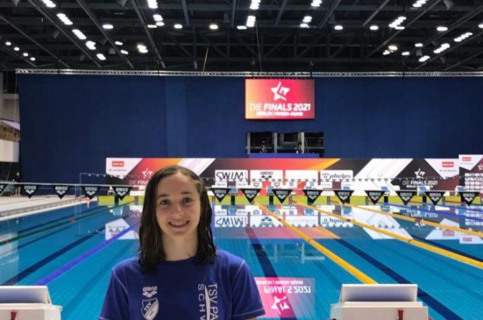Mara Sophie Brandes unter den TOP 20 bei Schwimm-DM in Berlin Teilnahme an der 1. offenen Deutschen Meisterschaft ist gleichzeitig riesiger, sportlicher Erfolg